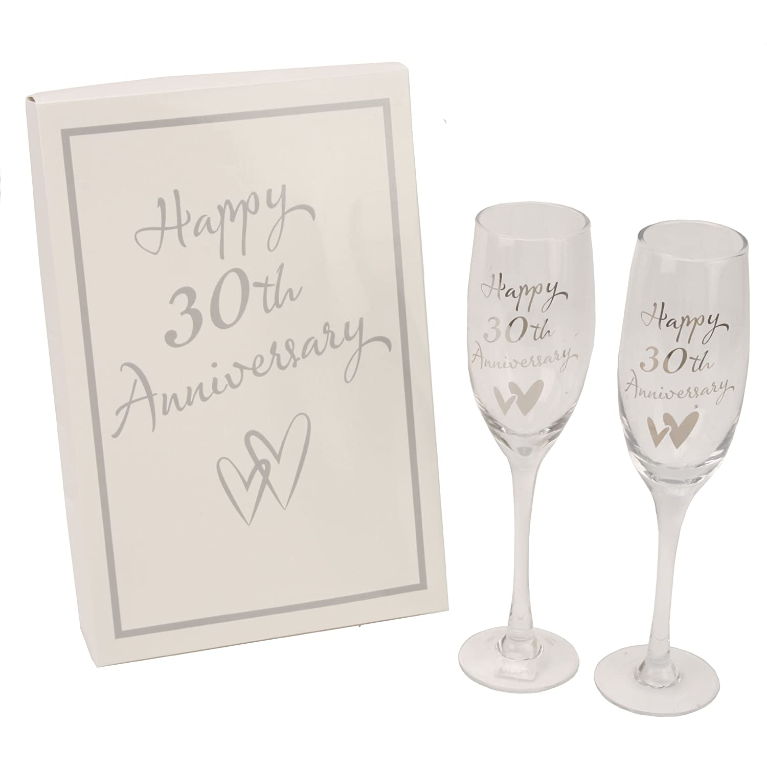 Juliana 30th Pearl Wedding Anniversary Champagne Glasses Gift G31730