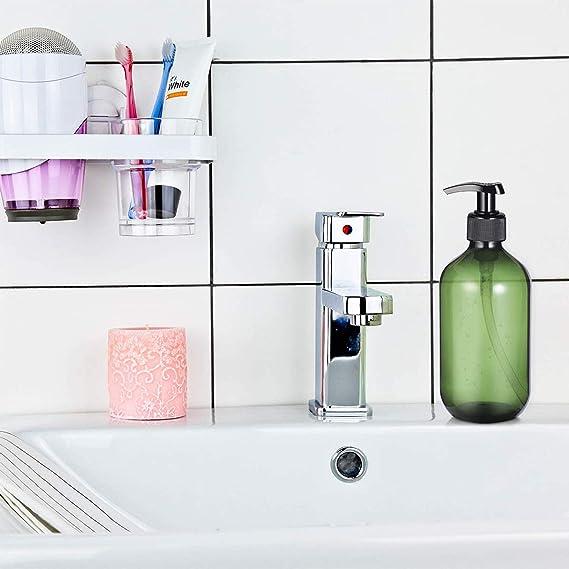 viaggio set di tre ambra marrone bottiglie dispenser di sapone in vetro 100/ml con etichette lavagna da Kuishi