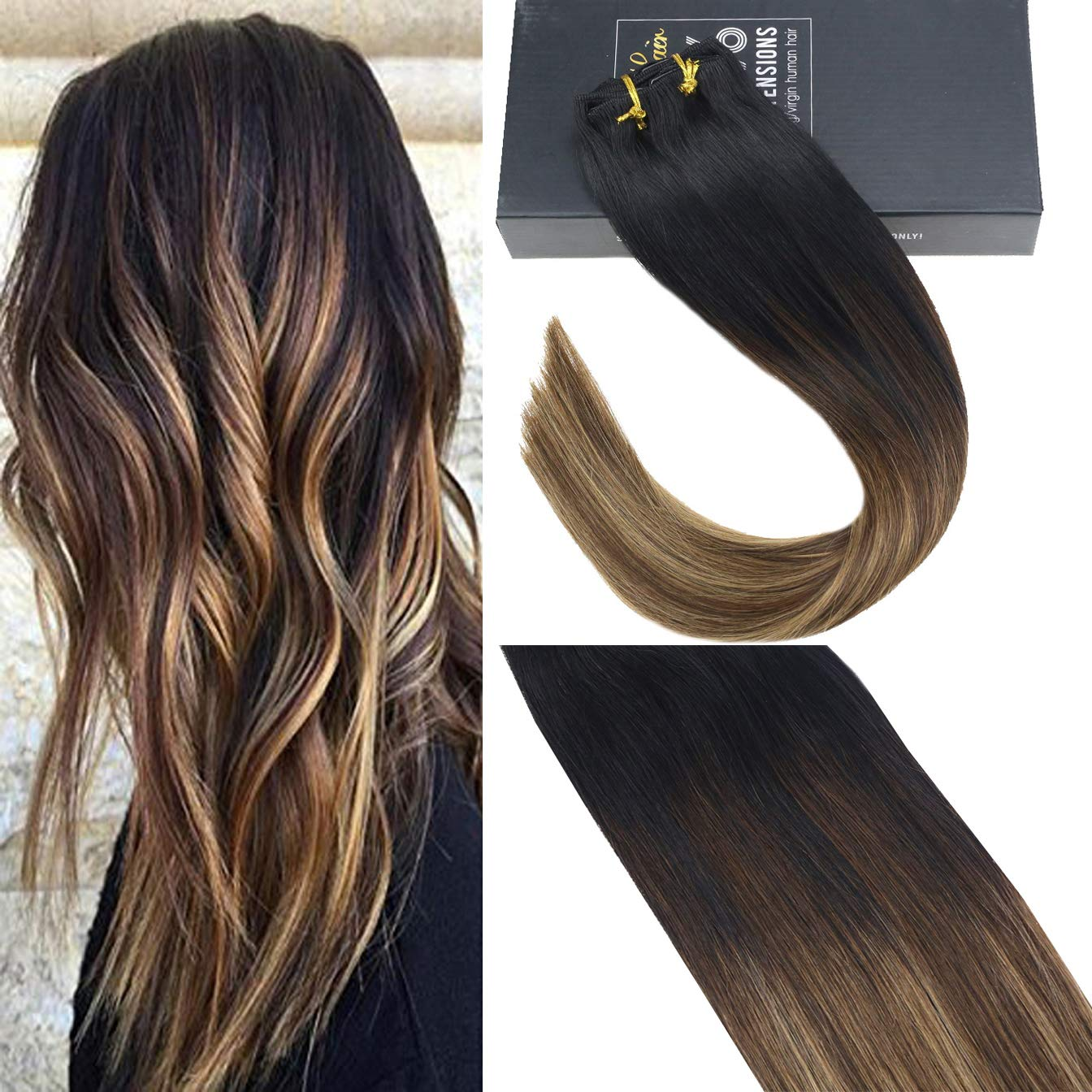Amazon Com Sunny 20inch Brazilian Clip In Remy Human Hair