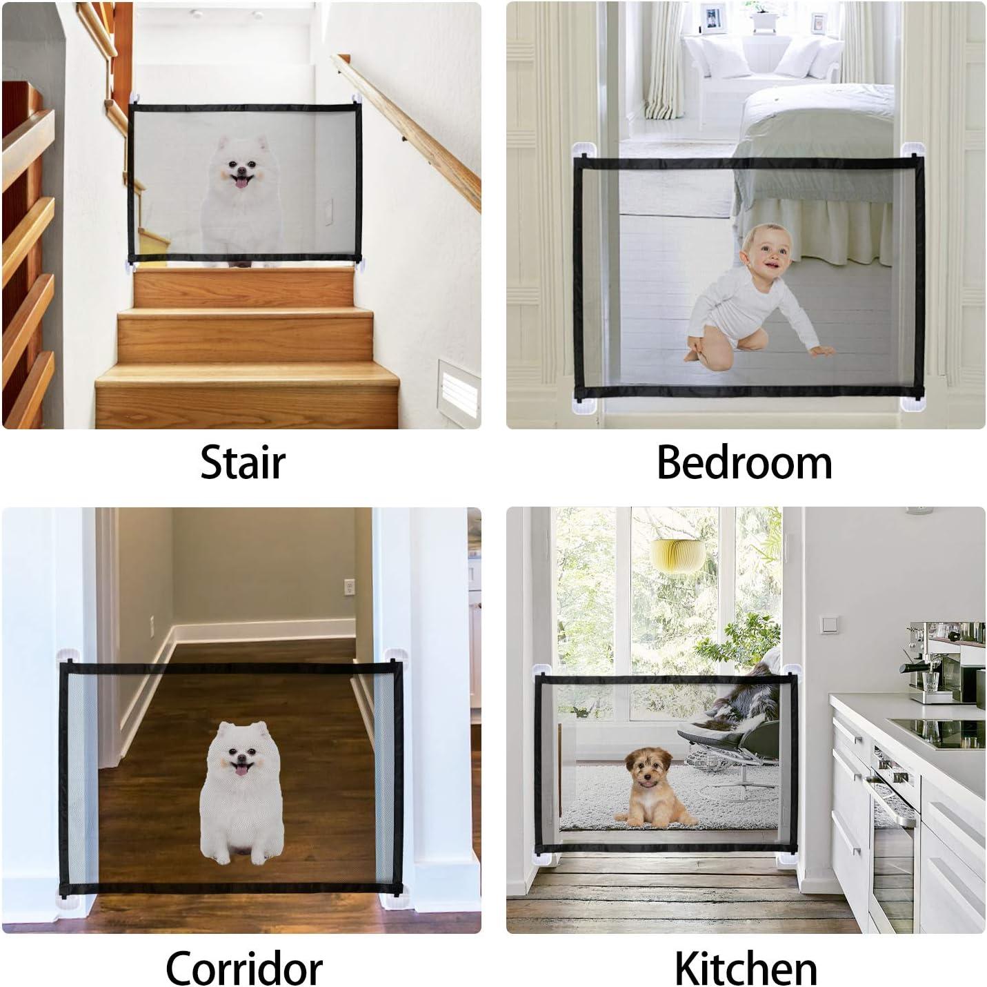 KATELUO Puerta Mágica para Perros, Magic Gate Dog, Puerta Mágica para Perros, para Mascotas, Adecuado para Perros, Gatos, Pasillos, Cocinas, Dormitorios, Escaleras. (110 x 72cm): Amazon.es: Productos para mascotas