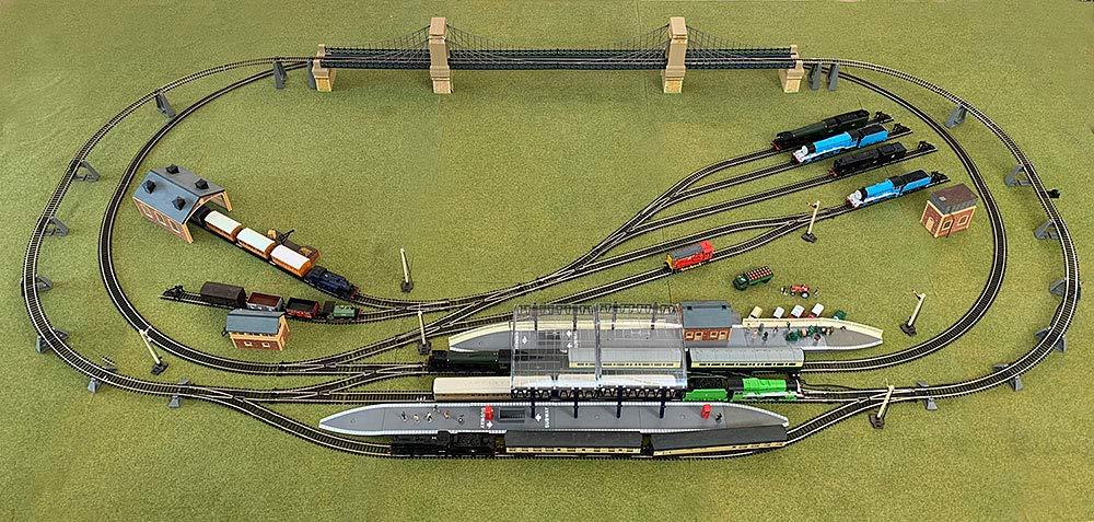 HORNBY Digital Train Set HL3 Large Layout with Suspension Bridge