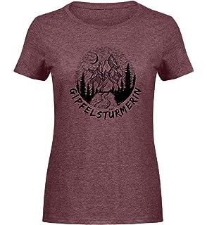 2f0308b9beb47a Gipfelstürmerin T-Shirt mit Cooler Berg Grafik für alle die Bergsteigen    Wandern lieben -