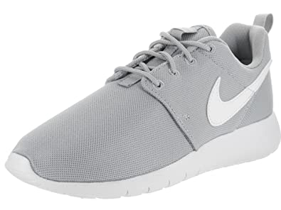 e4b48595019fd Image Unavailable. Image not available for. Color  Nike Roshe One GS Big  Kids Running Shoes Wolf Grey White ...