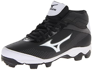 Mizuno Youth Franchise 7 Mid Baseball Cleat (Little Kid/Big Kid),Black