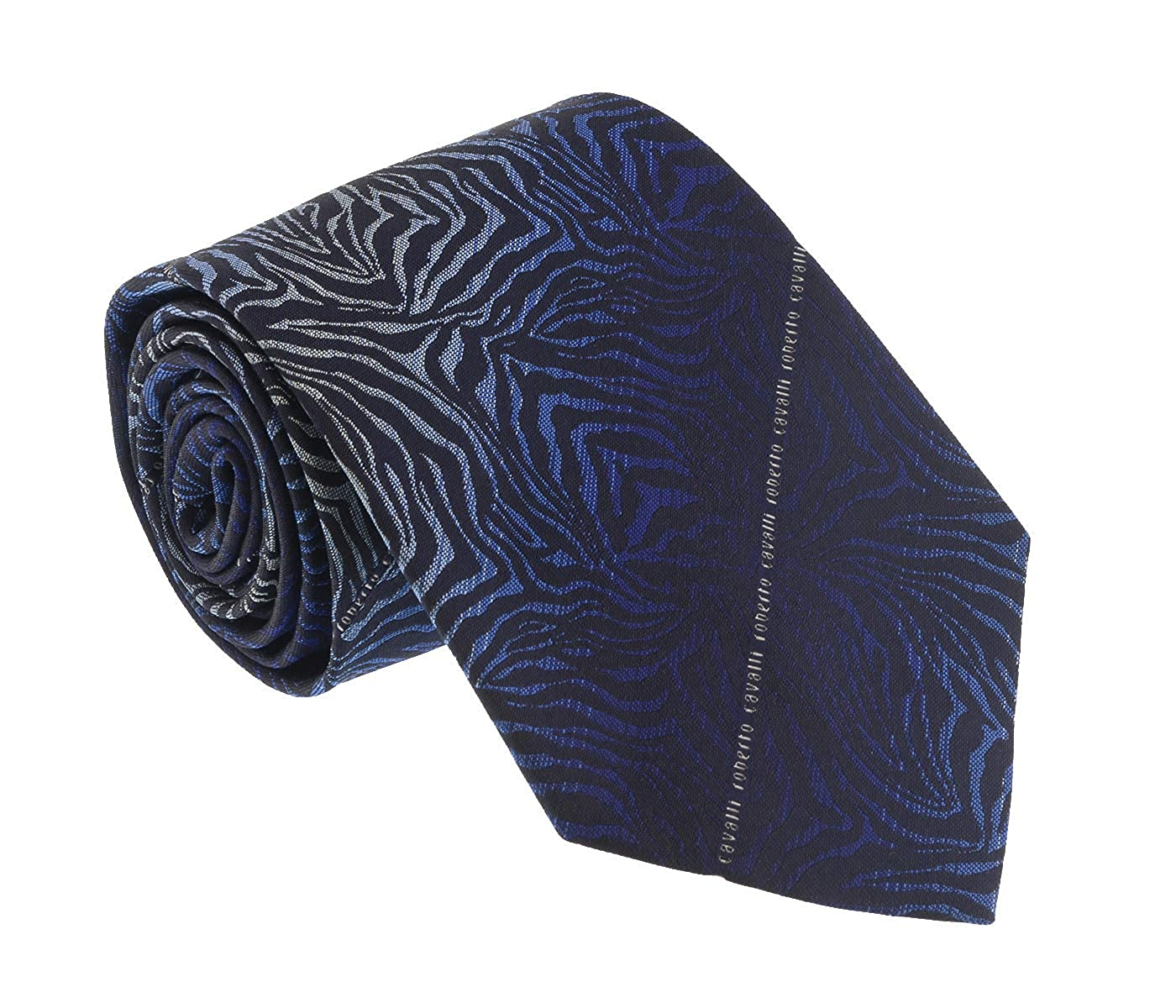 Roberto Cavalli ESZ021 04500 Blue Zebra Tie for Mens