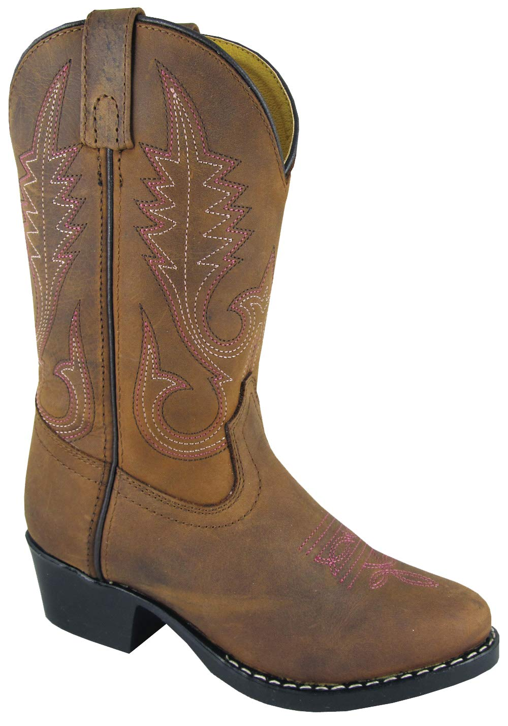 Smoky Mountain Annie Western Boot Round Toe, Brown Distress, 12