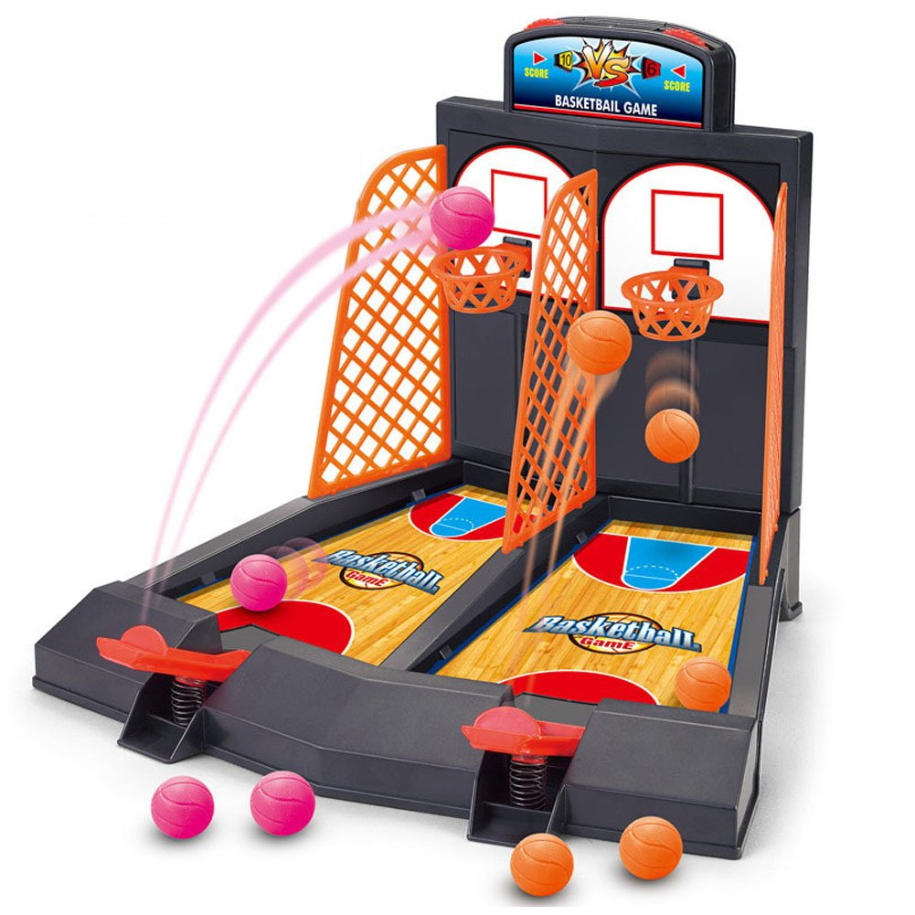 Basketball Shooting Game, YUYUGO 2-Player Desktop Table Basketball Games Classic Arcade Games Basketball Hoop Set, Fun Sports Toy for Adults-Help Reduce Stress by YUYUGO
