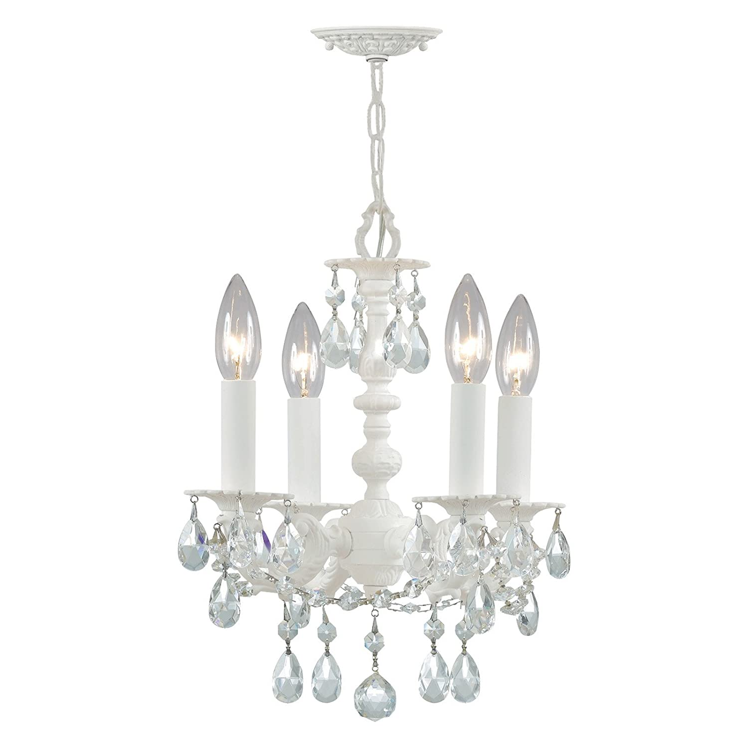 Crystorama 5514 WW CL MWP Crystal Accents Four Light Mini