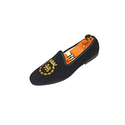 SMYTHE & DIGBY Men's Albert Slipper Leather Velvet Loafer | Loafers & Slip-Ons