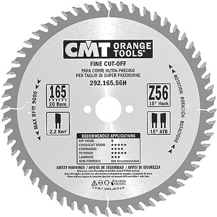 Cmt - 292.165.56h - sierra circular 165x2.2/1.6x20 z=56 15 grados atb