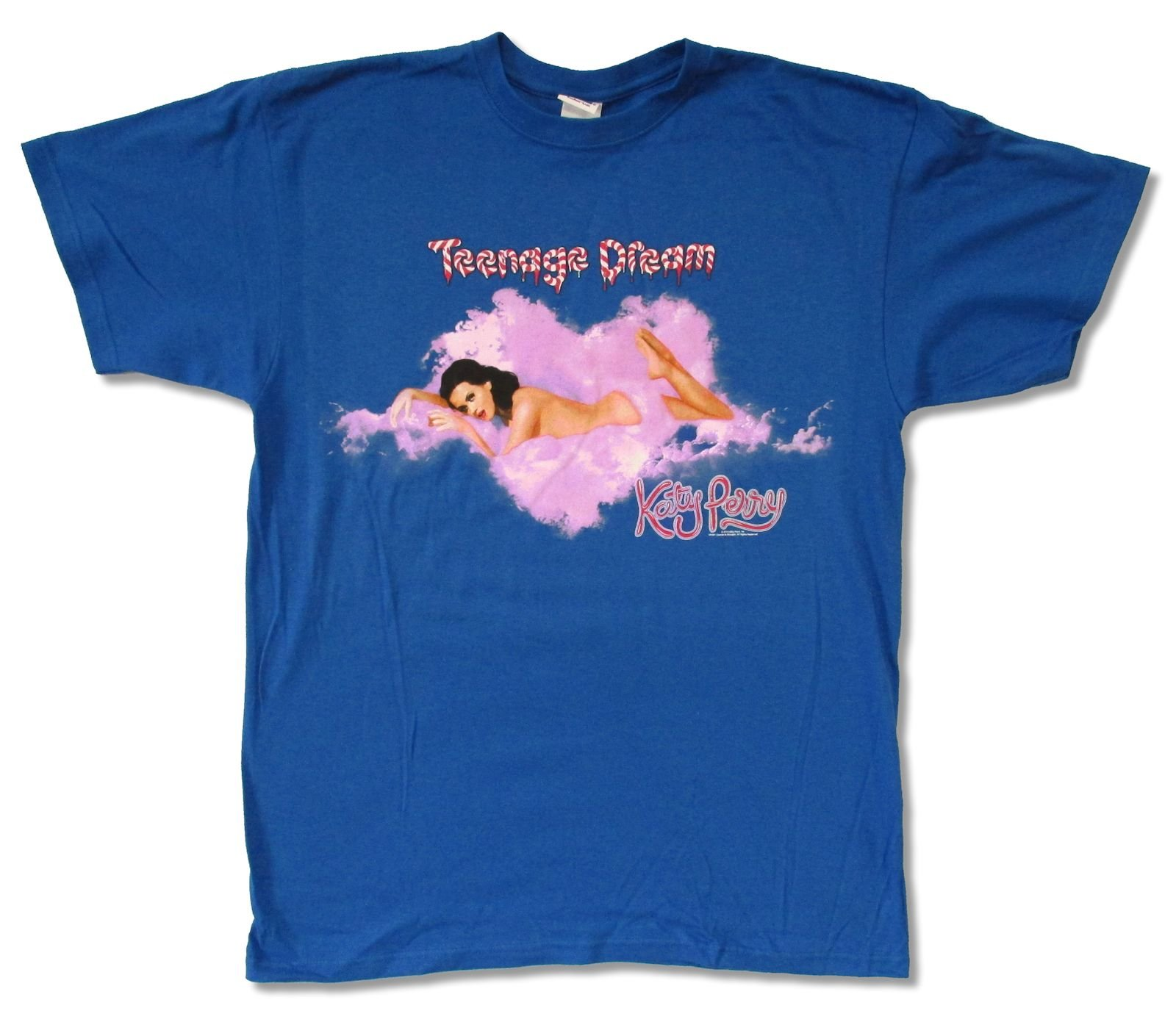 Adult Katy Perry ''Heart Shaped Cloud Tour 2011'' Royal Blue T-Shirt (Large)