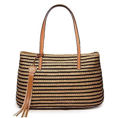 eddbd6c886e9db Eric Javits Luxury Fashion Designer Women's Handbag - Dame Brooke - Black  Mix: Handbags: Amazon.com