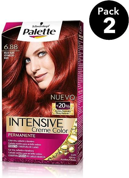 Palette Intense - Tono 6.88 Rojo Rubí - 2 uds - Coloración ...