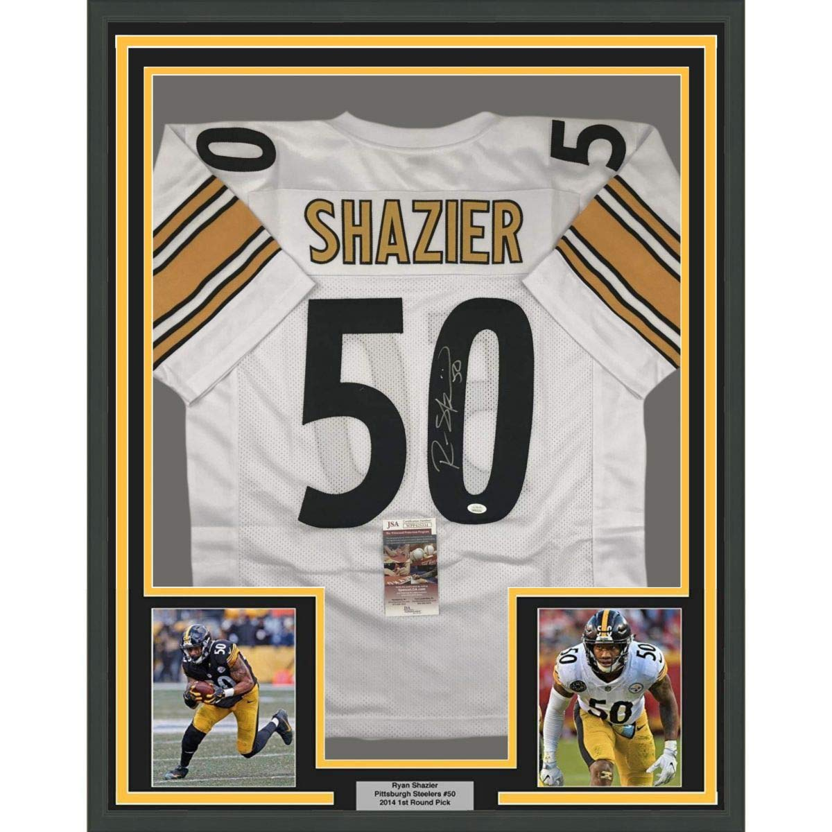 detailed look 98e55 45c7a Framed Autographed/Signed Ryan Shazier 33x42 Pittsburgh ...