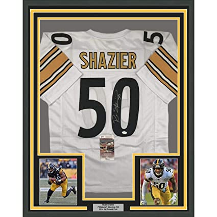 detailed look 69a35 b53fc Framed Autographed/Signed Ryan Shazier 33x42 Pittsburgh ...