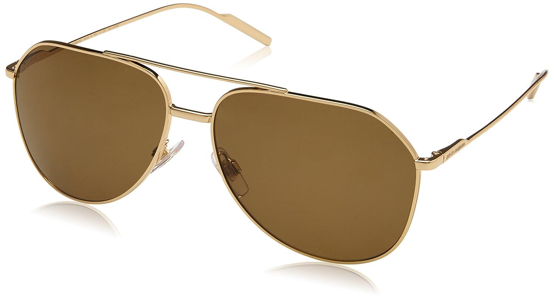 3b888d80f1ba Amazon.com  Dolce   Gabbana Men DG2166 61 Gold Brown Sunglasses 61mm   Clothing