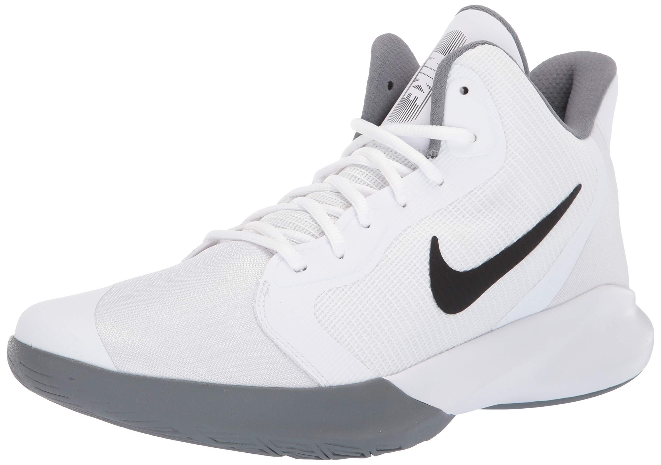 Nike Precision III Basketball Shoe White/Black 7.5 Regular US by Nike