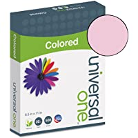Universal 11204 Colored Paper, 20lb, 8-1/2 x 11, Pink, 500 Sheets/Ream