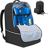 Teamoy Car Seat Travel Bag, Car Seat Gate Check Bag with Top Handle and Reflective Tapes, Infant Carseat Carrier Covers…