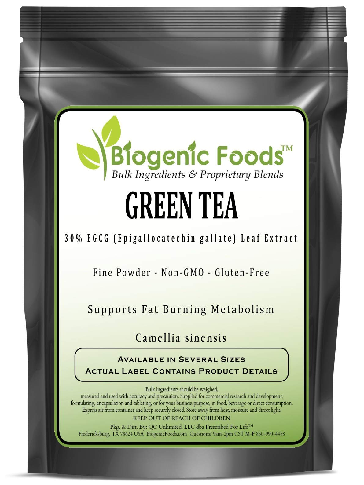 Green Tea - 30% EGCG (Epigallocatechin Gallate) Leaf Fine Powder Extract (Camellia sinensis), 1 kg