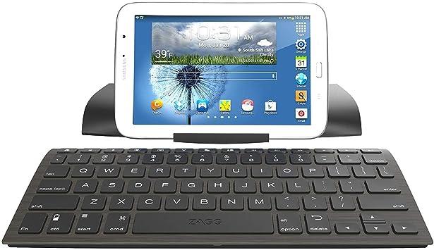 Digitl Premium Teclado inalámbrico Bluetooth Soporte de Viaje para Samsung Galaxy S10 S9 S8 Plus S7 Edge, Note 9 8 teléfonos con Teclas Estilo Isla y ...
