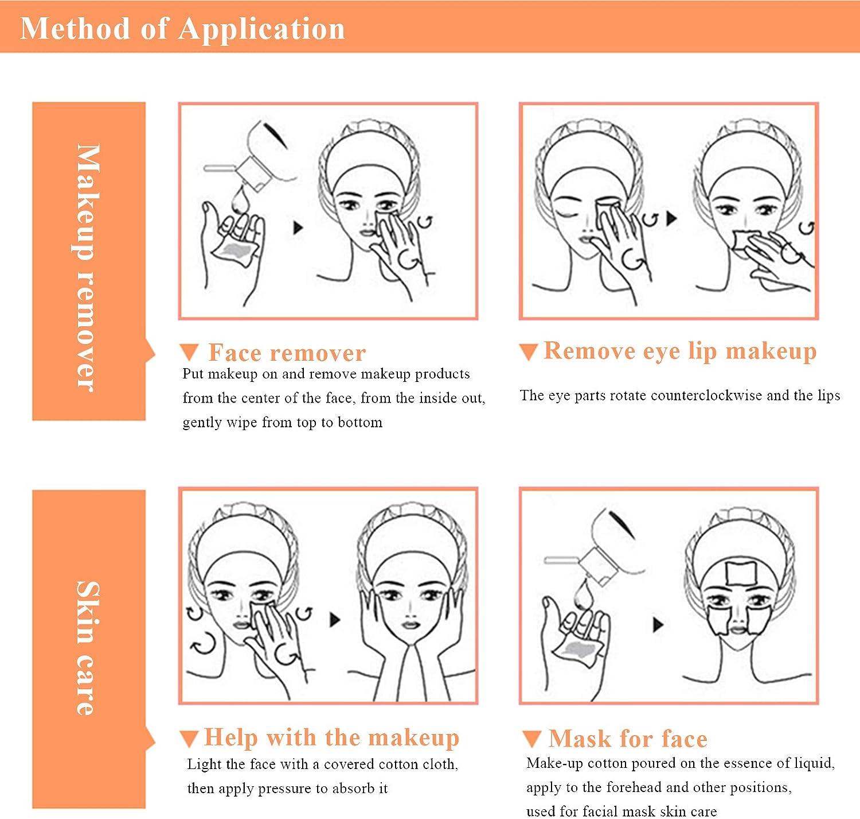 02 Onlyoily 222 PCS Esmalte De U/ñas Almohadillas De Maquillaje De Algod/ón Algod/ón Peinado Maquillaje Almohadillas de Almohadillas de Limpieza Facial Algod/ón