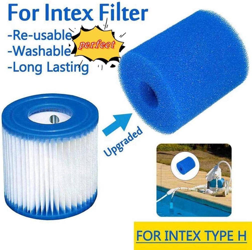 cartucho de repuesto para piscina filtro de piscina jacuzzi spa Cartucho de esponja para filtro Intex tipo H 1 unidad. lavable reutilizable