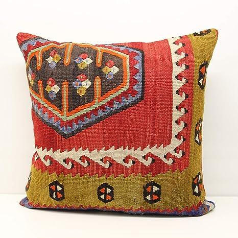 Amazon.com: Kilim Cushion Cover - Size:60 x 60 cm Code XL463 ...
