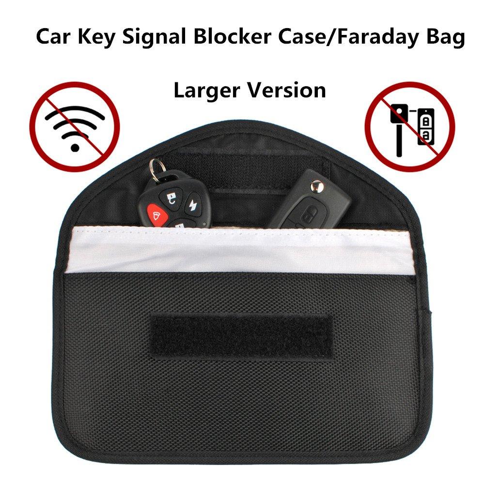 Car Key Protector, Faraday Bag for Car Keys, Faraday Cage for Car Key, Faraday Pouch For Car Keys, Signal Blocker Keys, Key Protection Pouch, Key Safe for Car Keys (Grey) JiuJin