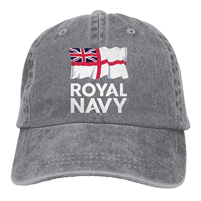 KERLANDER UK Royal Navy Adjustable Washed Twill Baseball Cap Dad Hat