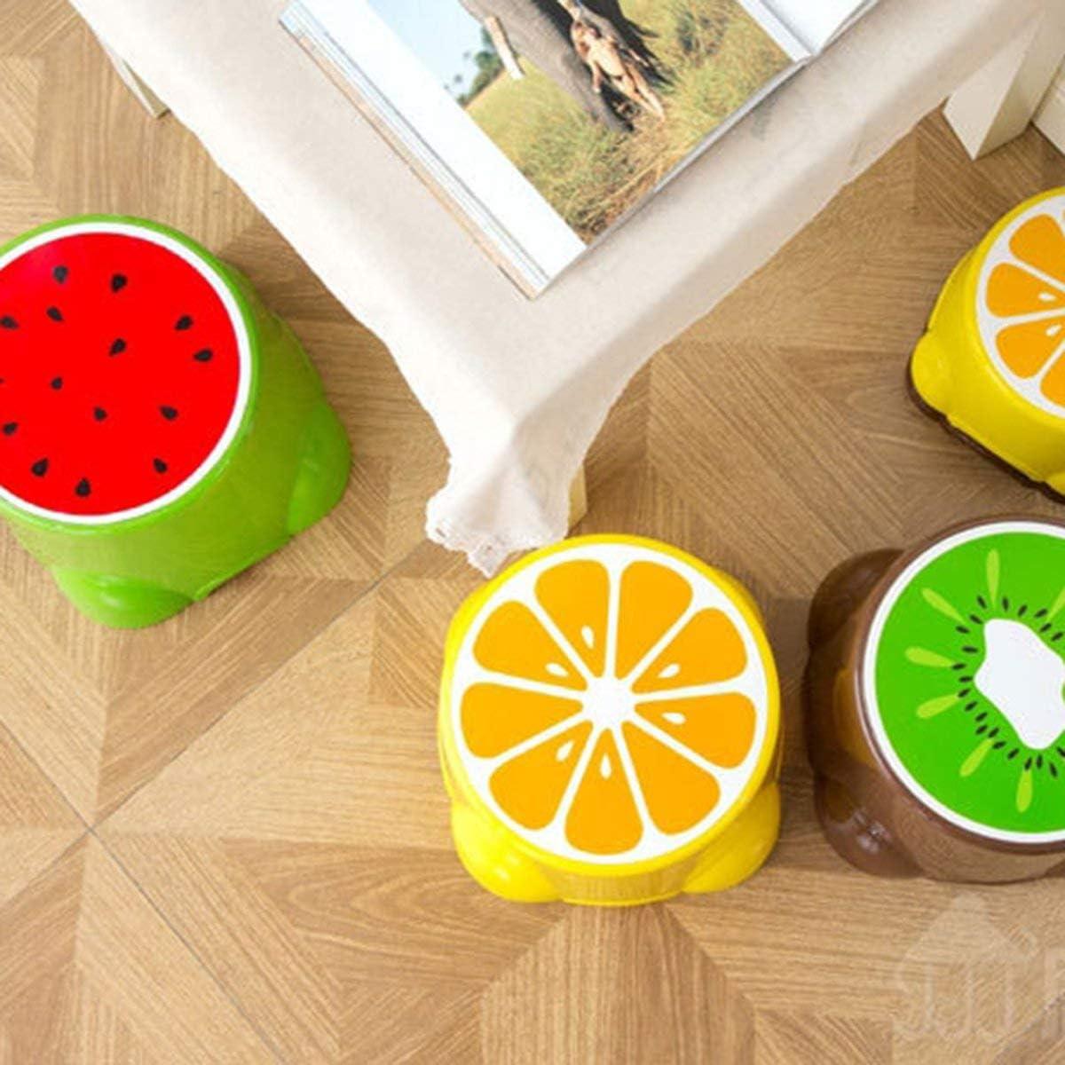 Greatangle Taburete de Frutas para ni/ños Lindo Taburete de pl/ástico beb/é Dibujos Animados Engrosamiento Tablero Multicolor