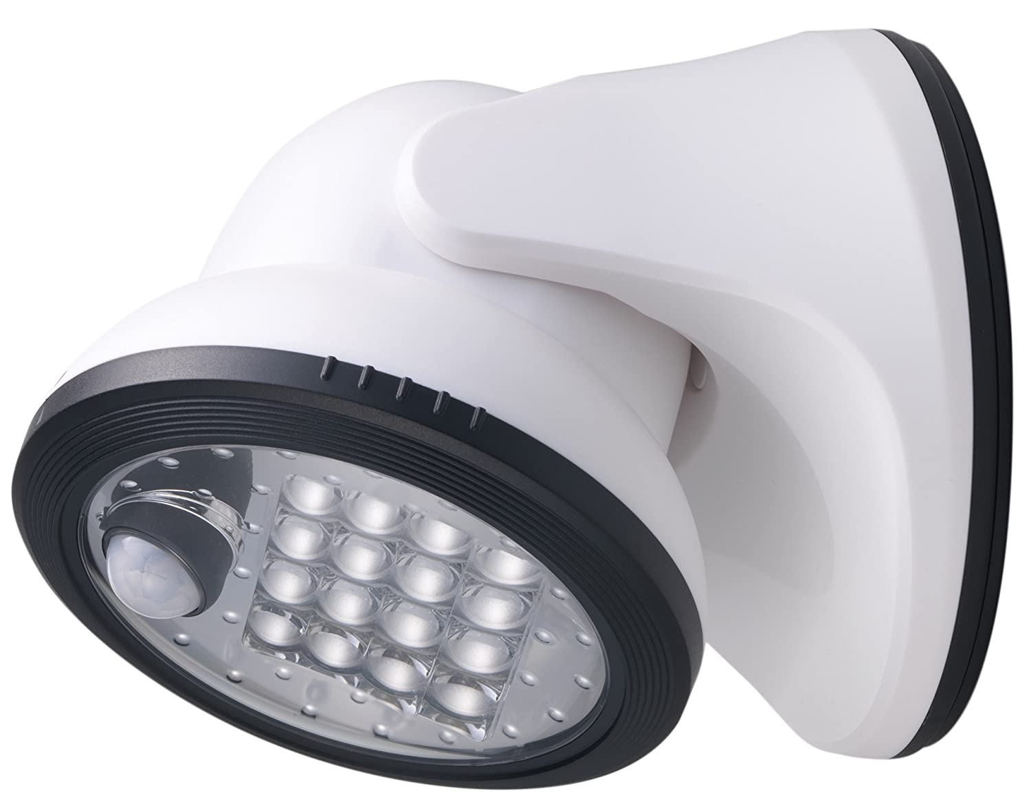LIGHT IT! By Fulcrum, 16-LED Motion Sensor Security Light, Battery Operated, White