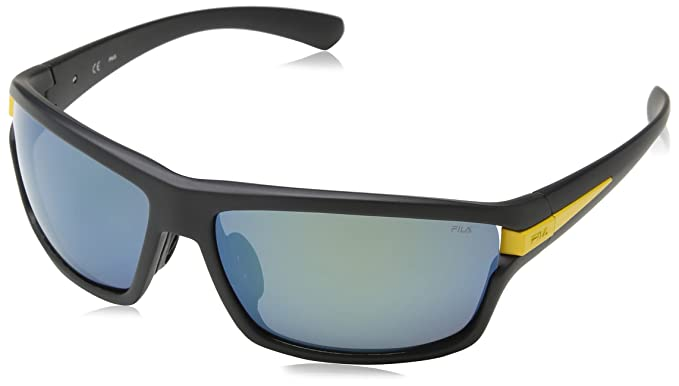 Fila SF8976, Gafas de Sol para Hombre, Multicolor (Semi Matt Black/Palladium