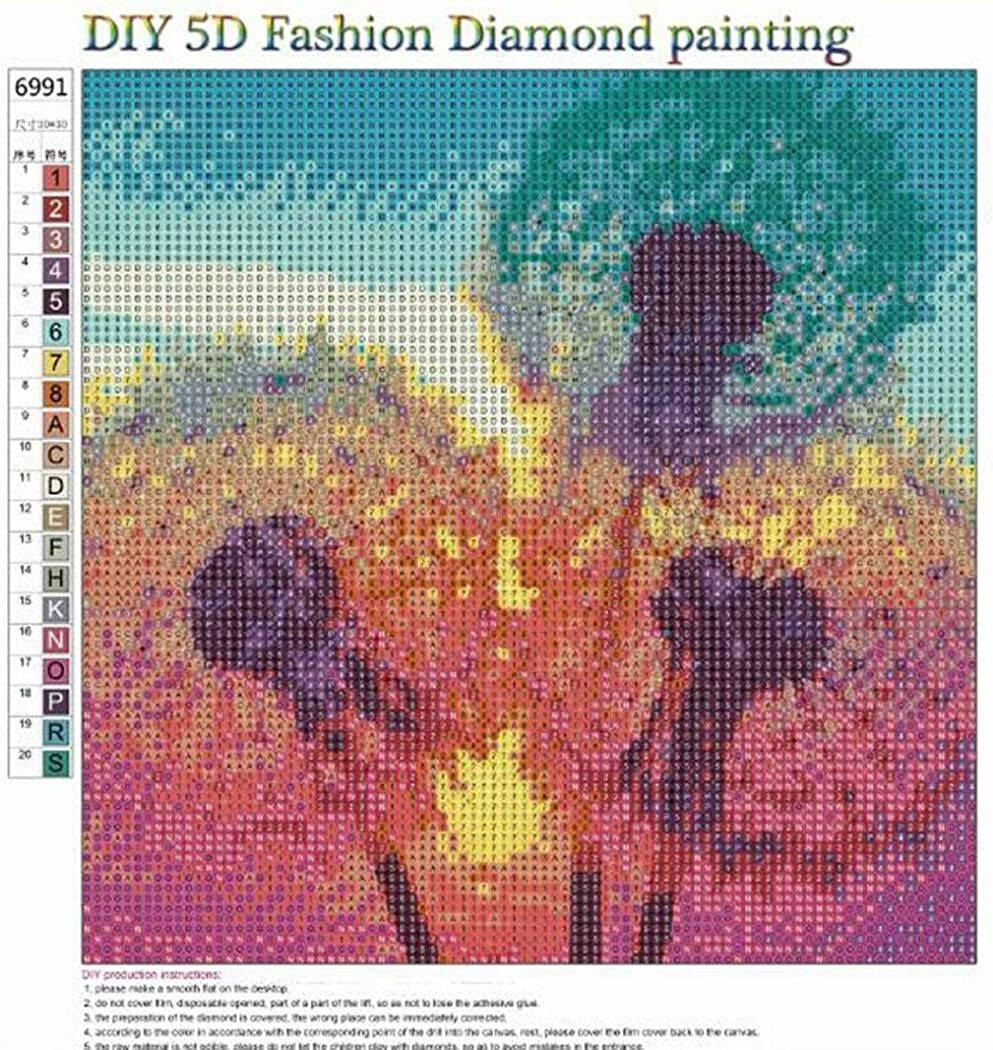 Smiela DIY Diamond Painting Kit Full-rhinestone Dandelion Cross Stitch Arts Home Decor Cross-Stitch