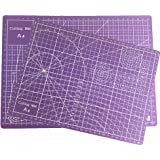 """Cherry Professional 12"""" x 9"""" Self-Healing, Double-Sided Cutting Mat, Rotary Blade Compatible for Sewing, Quilting, Arts & Crafts(Purple, A4)"""