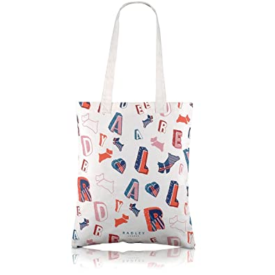 Radley canvas shopper / tote bag / beach bag - Spell Check design ...