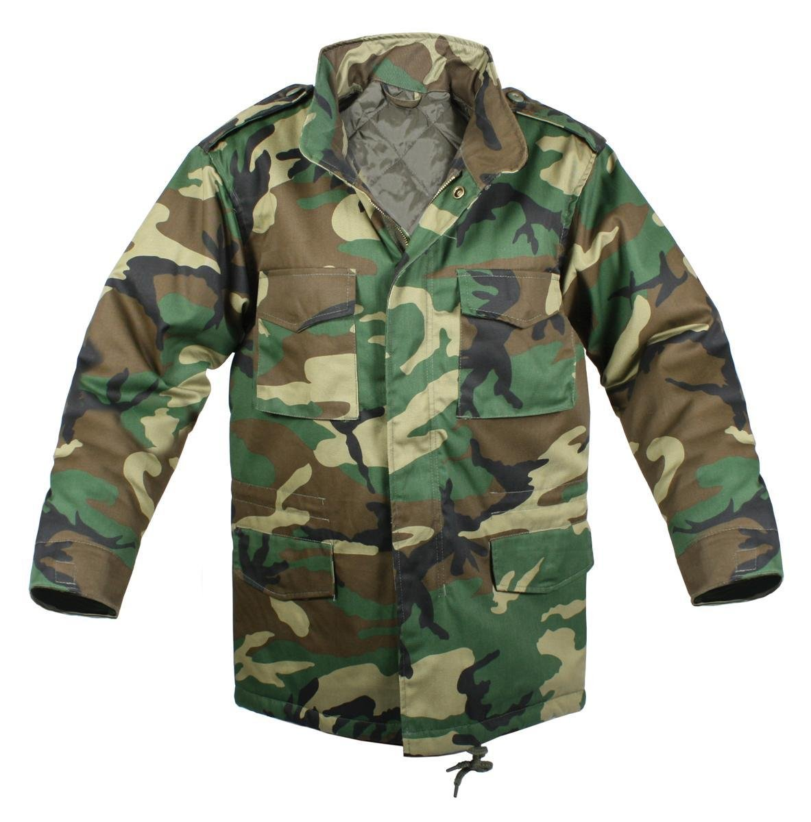 Rothco Kids M-65 Field Jacket W/Liner - Woodland RSR Group Inc 613902766037