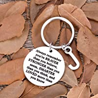 Inspirational for Son Daughter Keychain Personalized Initial Charm Valentine Women Men Friends Teens Sweet 16 Birthday College Graduation Gifts for Teenage Boy Girls Gifts Him Her