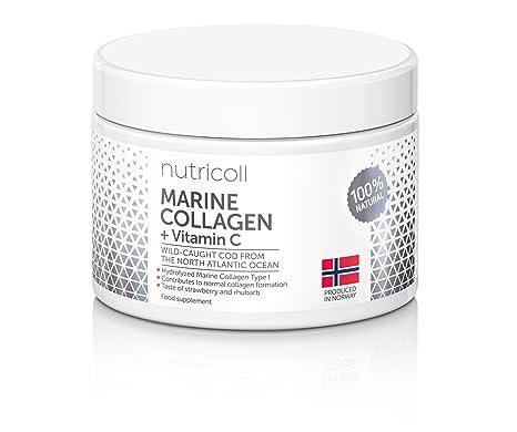 Polvo de colágeno marino noruego puro con vitamina de la fruta de acerola natural | péptidos