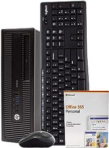 HP ProDesk 600G1 Desktop PC Computer, Intel i5-4670, 8GB RAM, 512GB SSD, DVD, Windows 10 Pro, Microsoft Office 365 Personal, New 16GB Flash Drive, Wireless Keyboard & Mouse, WiFi, Bluetooth (Renewed)