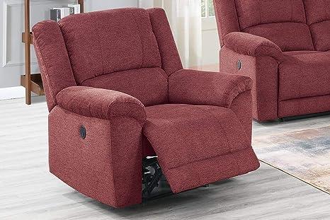 Wondrous Amazon Com Modern Red Velvet Fabric Power Recliner Chair Uwap Interior Chair Design Uwaporg