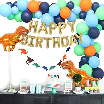 Amazon.com: Suministros de fiesta de dinosaurio, globos de ...