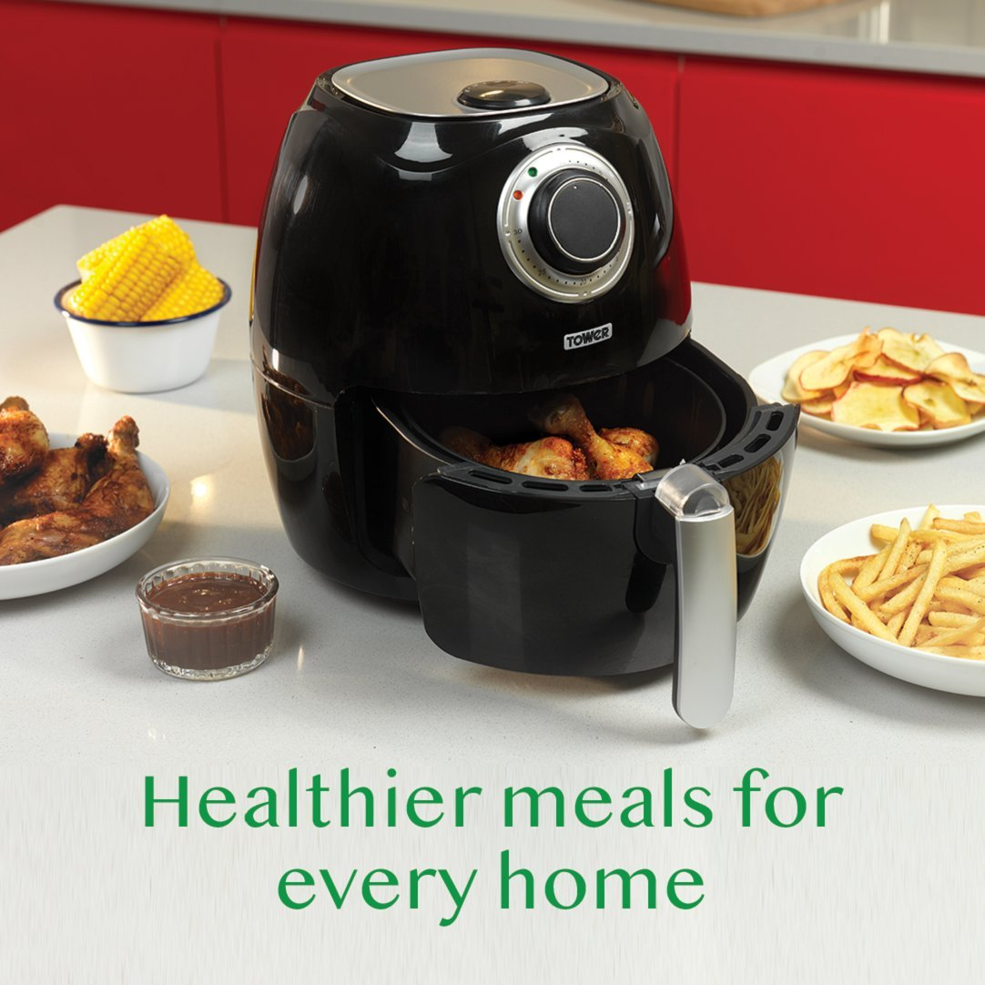 Tower T17005 Air Fryer With Rapid Circulation System 1350 W Locklock Food Container Classics 34l Hpl848 32 Litre Black Kitchen Home