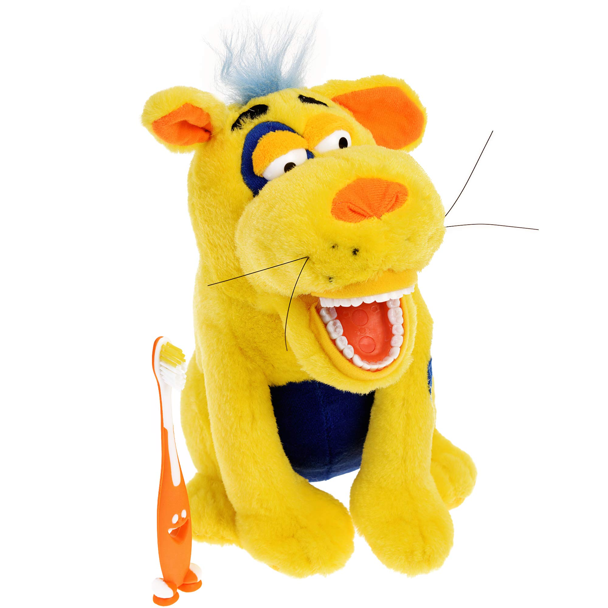 StarSmilez Kids Tooth Brushing Buddy Lil Ollie Mutt - Plush Dental Education Helper - Teach Children flossing and Overall Care for Mouth and Teeth
