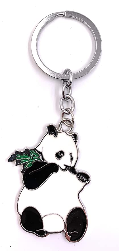 Onlineworld2013 Llavero de Comer Panda Oso Colgante de Metal ...