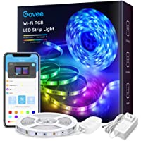 Govee Smart LED Light Strip Works with Alexa, APP Control 16.4ft RGB Light Strip Sync with Music, 16 Million Colors 5050 WiFi Lights for Bedroom, Home, Kitchen, TV, Party, iOS and Android Supported