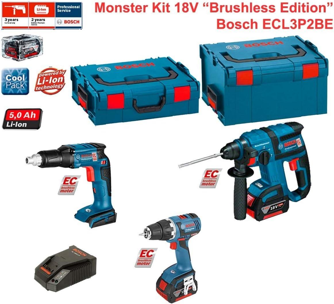 Kit Bosch ecl3p2be (GSR 18V-EC TE + GBH 18V-EC + GSR 18V-EC + Cargador AL1860CV + 2Baterías 5,0Ah + maletín L-Boxx 136+ maletín L-Boxx 238): Amazon.es: Bricolaje y herramientas