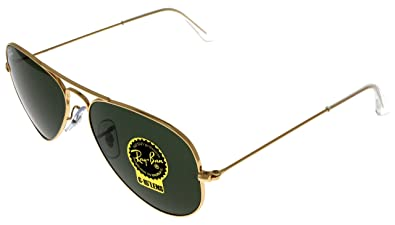 1dfd18cc286 Image Unavailable. Image not available for. Color  Ray Ban Sunglasses  Aviator Gold Unisex RB3025 W3234