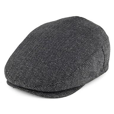 fbcee6265de Brixton Hats Hooligan Flat Cap - Grey Black Herringbone  Amazon.co.uk   Clothing