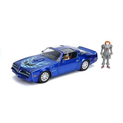 """Jada Toys Hollywood Rides It Chapter Two Pennywise & Henry Bower's Pontiac Firebird, 1: 24 Red Die-Cast Vehicle with 2.75"""" Die-Cast Figure: Toys & Games"""